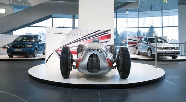 Audi feiert in 2009 100. Geburtstag und erinnert an die Geschichte des Unternehmens (Foto: Audi AG)