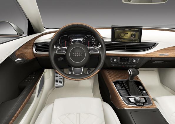 Puristisch edles Innendesign im Audi Sportback Concept (Foto: Audi)
