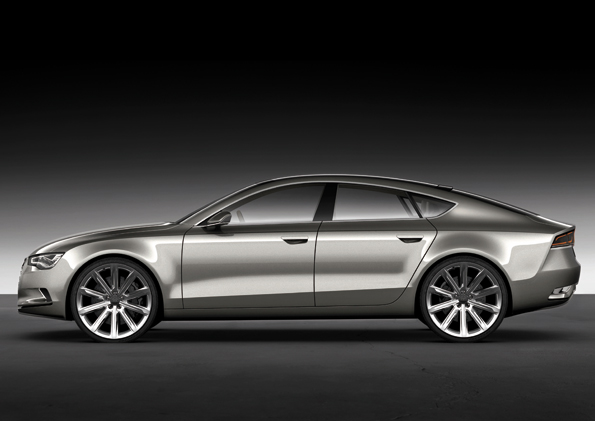 Seitenansicht des neuen Audi Sportback Concept (Foto: Audi)