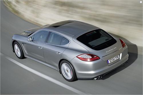 Der neue Porsche Panamera von oben (Foto: Porsche)