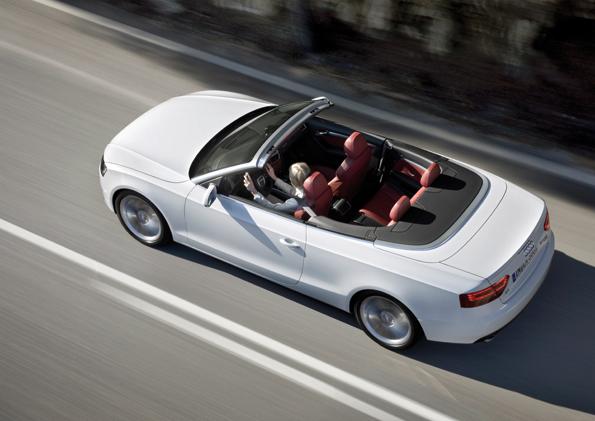 Harmonisch: Das Audi A5 Cabrio von oben gesehen (FotoL: Audi)