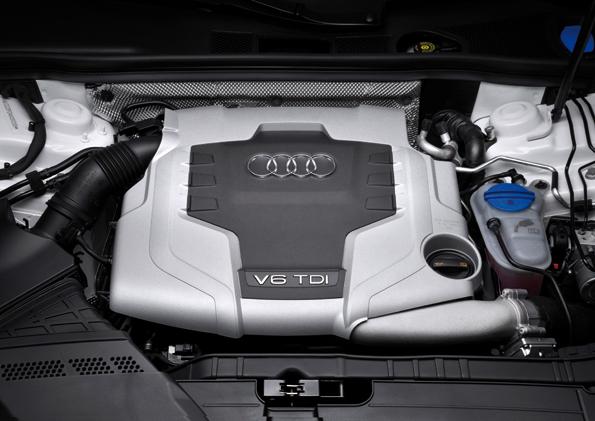 Der von Audi bekannte V6 Turbodieselmotor kommt auch im Cabrio zum Einsatz (Foto Audi)