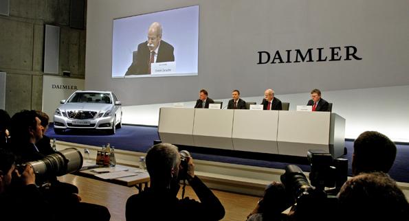 Trübe Aussichten für 2009: Daimler rechnet mit einem Rückgang der Neuzulassungen von weiteren 10 Prozent (Foto: Daimler)