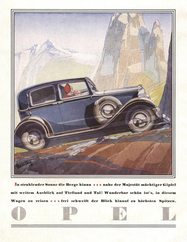 Doch auch der Kadett erklimmt eisern jeden noch so hohen Berg (Bild: Opel)