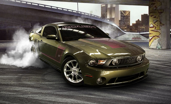 Das Ergebnis unserer Spielerei - ein Mustang als aggressives Muscle-Car (Abb.: Ford)