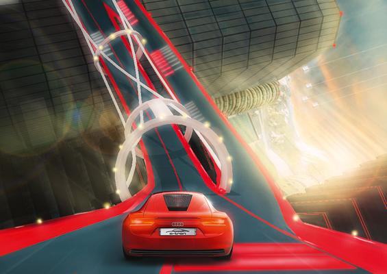 Spielerisch die Studie e-tron erfahren - das geht bald auf der Playstation (Abbildung: Audi)