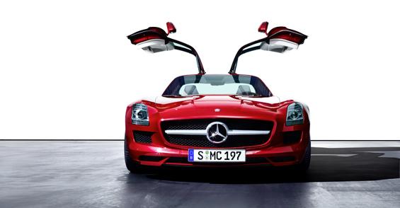 Der neue Mercedes Supersportwagen Mercedes SLS AMG feiert auf der IAA 2009 seine Weltpremiere (Foto: Daimler)