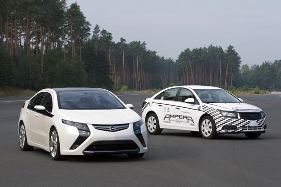 Der Opel Ampera, das Elektroauto von Opel, befindet sich derzeit im Testbetrieb. (Foto: GM Corp.)