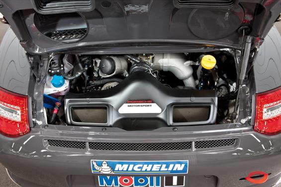 Porsche 911 GT3 Cup, 3,8-Liter-Sechszylinder-Boxermotor mit 450 PS  (Foto: Porsche)