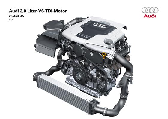 Der V6 TDI Motor von Audi mit 3.0 Liter Hubraum (Abbildung: Audi)