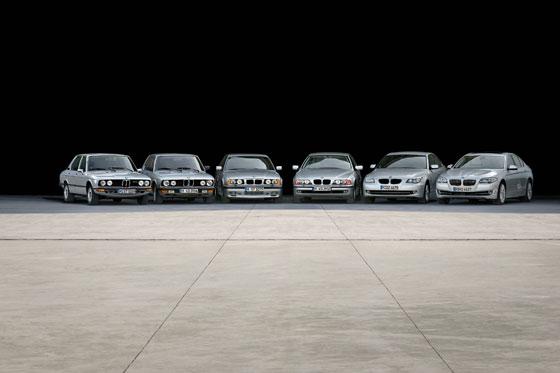 Sechs Generationen BMW 5er Limousine auf einen Blick (Foto: BMW)