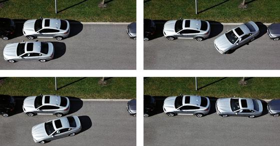 Der Parkassistent sucht Parkplätze und parkt auch noch ein (Foto: BMW)