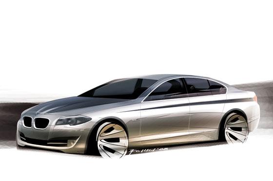 So stellten sich die Designer den neuen 5er von BMW vor (Grafik: BMW)