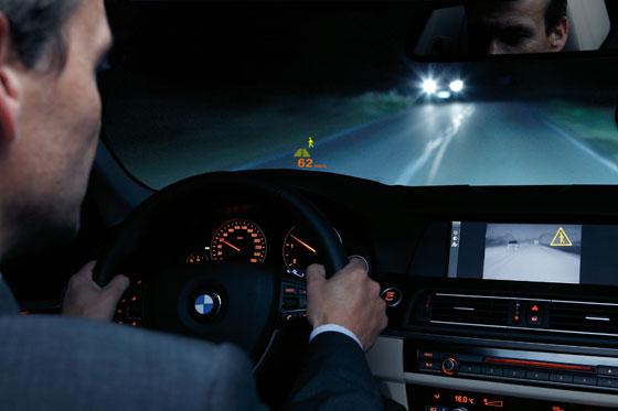 Night Vision mit Personenerkennung im neuen 5er BMW (Foto: BMW)