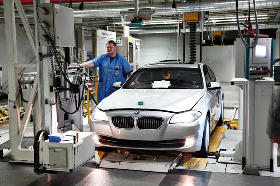 Der neue 5er wird wie der 7er im Werk Dingolfing gebaut (Foto: BMW)