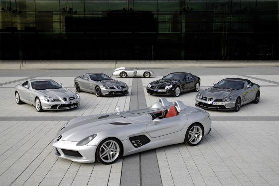 Mercedes-Benz SLR McLaren Stirling Moss, 300 SLR, SLR Coupé, SLR 722 Edition, SLR Roadster, SLR Roadster 722 S (Foto: Daimler)