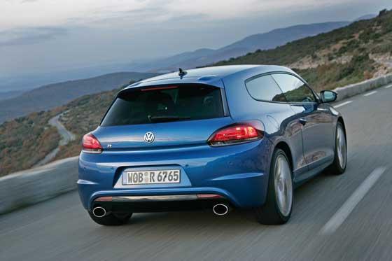 Zweiflutige Abgasanlage beim neuen Scirocco R (Foto: Volkswagen)