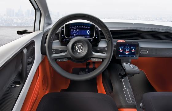 Angemessen futuristisches Cockpit der Studie Up! Lite (Foto: Volkswagen)