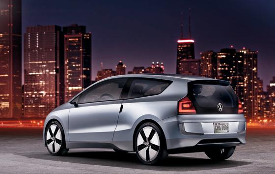 Heckansicht der VW Studie Up! lite (Foto: Volkswagen)
