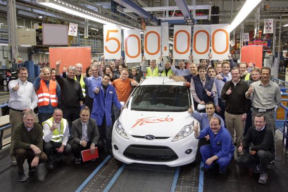 Der 500.000ste Fiesta lief heute in Köln-Niehl vom Band (Foto: Ford)