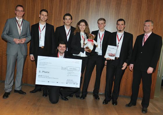 Das zweitplatzierte Team der TU Berlin (Foto: Audi)