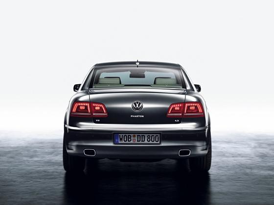 Das neu gestaltete Heck des Phaeton (Foto: Volkswagen)