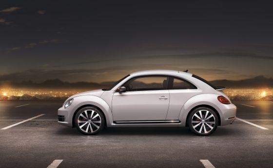 Der neue Volkswagen Beetle in der Seitenansicht
