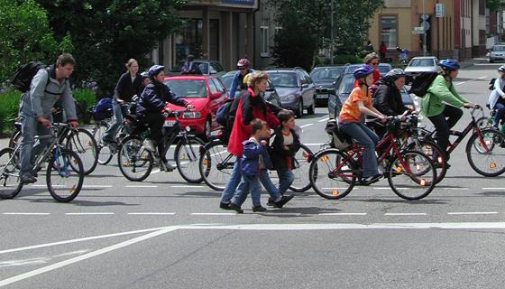 Trend zum Fahrrad: Immer mehr Deutsche steigen auf, bisherige Radler nutzen es immer häufiger. Foto: Institut für Verkehrswesen, KIT