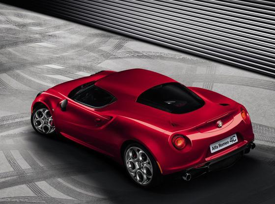 Alfa Romeo 4C in der Rückansicht. Foto: Alfa Romeo.