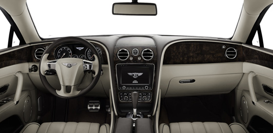 Cockpit des komplett neuen Bentley Flying Spur. Foto: Bentley.