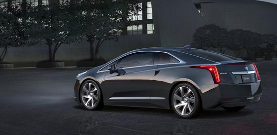 Der elektrisch angetrieben Cadillac mit 1,4 Liter Benziner als Range-Extender. Foto: GM.