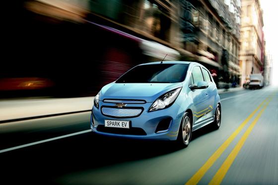 Mit 136 PS starkem Elektroantrieb ist der Kleinwagen Spark kräftig motorisiert. Foto: Chevrolet.