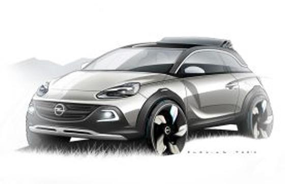 Konzept-Studie Adam Rocks als Variation dess neuen Kleinwagens Adam von Opel. Foto: Opel.