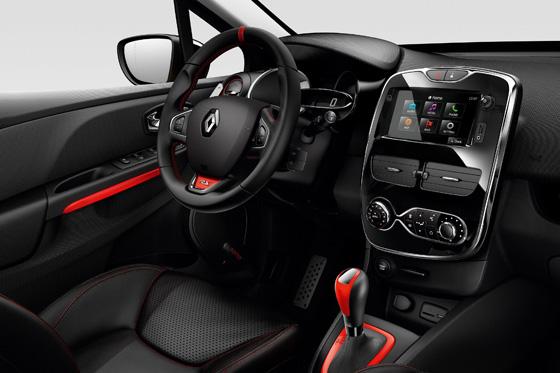 Formel 1-Feeling, ja, aber auch modernes Entertainment im neuen Renault Clio R.S. Foto: Renault.