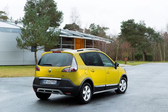 Heckansicht des Scénic Xmod. Foto: Renault.
