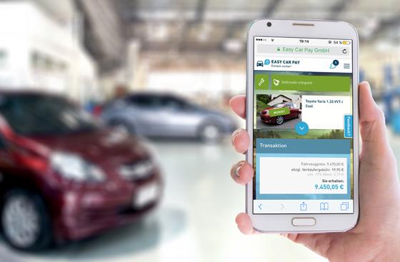 Die App Easy Car Pay macht die Bezahlung beim gebrauchtwagenkauf für Käufer und Verkäufer sicher und einfach. Foto: Easy Car Pay