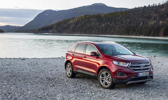 Als großen SUV hat Ford das Modell Edge für Europa adaptiert. Er istr auch als opulente Vignale-Ausführung zu bekommen. Foto: Ford.