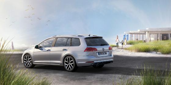 Der neue Golf Variant zeigt sich in neuer Bestform und wird sicher wieder ein Publikumsliebling. Foto: VW