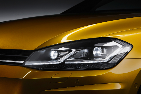 Statt Xenon gibt´s nun LED-Scheinwerfer. Foto: VW
