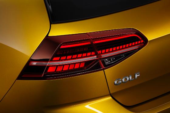 LED-Rückleuchten für alle Golf. Foto: VW